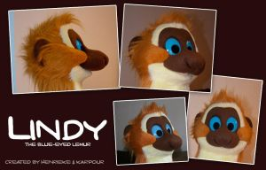 Lindy the Sclater's lemur costume mask by Henrieke