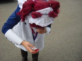Anime Banzai 2012 May-Rin's bloody nose by spottedcloud123