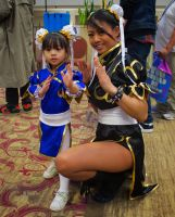 Mom and Daughter Chun-Li by GrumpyCosplay