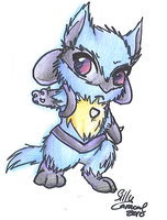 Request: Chibi Lucario by SillyCaracal