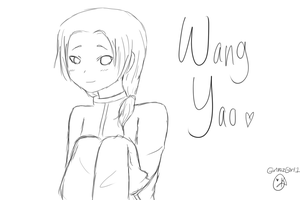 Wang Yao Sketch by GorillazGirl1