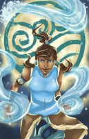 Korra and the Moon by frozentofu