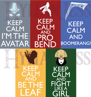 Keep Calm Fandom Badges: AtLA Part 2 - DISCONTINUE by HylianJess