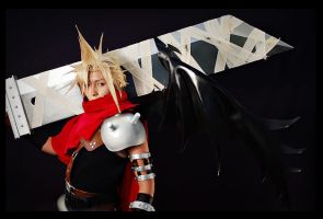 Cloud Kingdom Hearts by B-Shira