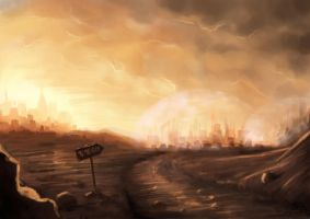 City on Mars by Stoupa