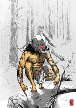 Wolverine WEAPON X color by christiangmarra