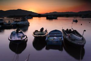 Magic Hour with Yachts by johnchan