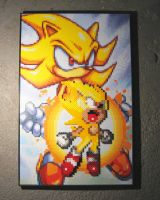 Perler Super Sonic by Dlugo1975