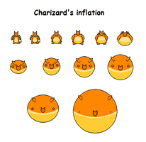 Charizard's inflation by Effra-Bulbizarre