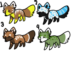 little foxy adoptables 2 by zcherozrodesidz
