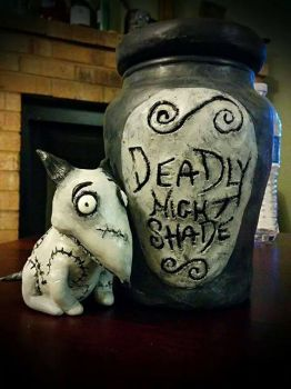Nightmare Before Christmas- Deadly Night Shade Jar by Lustuad