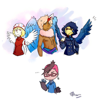 Birds! With Wings! by KayVeeDee