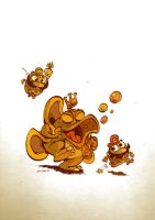 Little Wart attacks Mario by Themrock