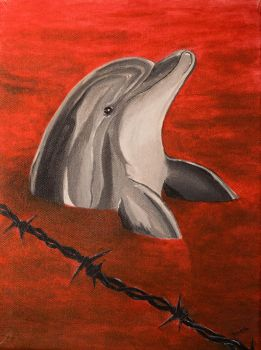 Blood Dolphins by Splash--of--Colour