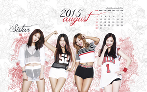 Calendar Wallpaper - August 2015 - Sistar by edinaholmes