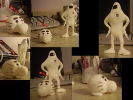 Starman and Mr. Saturn sculpts by dracon-dragon