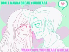EH: Give Your Heart A Break Art Trade by ExclusivelyHetalia