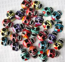 skull beads supply by ArteDeMiFamilia