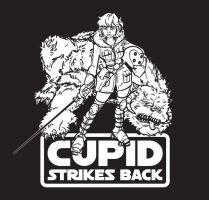 Cupid Strikes Back BW by grantgoboom