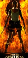 Lara Croft - Fire by ImeldaCroft