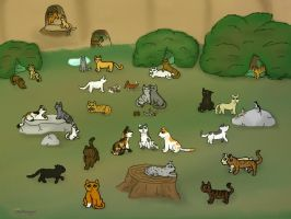 thunderclan camp by darkangel1236