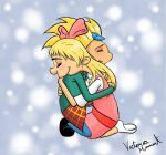 Arnold and Helga: Loving Embrace by BloodAngel28
