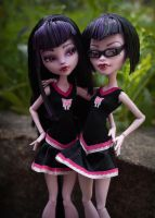 Gory and Fangloria ready to lead the fear! by Beauty-Darkly