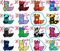 CLOSED - Cheapie colorful cats! by OstendorfsAdopts