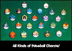 All My Pokemon Pokeball Charms