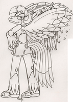 Mahogany With Shorter Wings by IkaritheHedgehog