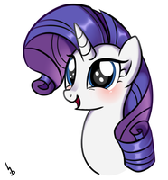 The cutest face of Rarity by Haden-2375