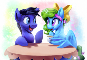 Coffee Meet - Commission by Tsitra360