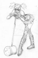 Harley Quinn_pencils by AaronDockery