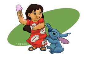 Lilo and Stitch by ronweasleyismyking