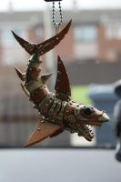Steam punk Shark (car ornament) by MunkyKnuts