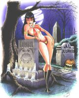 Vampirella hangs with the guys by andypriceart