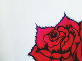 Red Rose -RR- by artmaker77