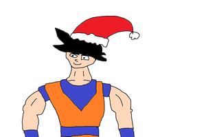 Goku with Santa hat by Simpsonsfanatic33