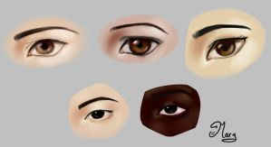 Eyes Doodles :) by mary3m