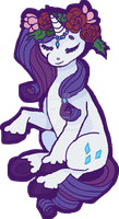 Rarity Flowerhorse by weepysheep
