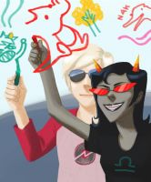 coolkid drawings (Homestuck fanart) by Spheredra