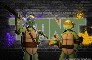 TMNT: Don and Mikey by mayday213
