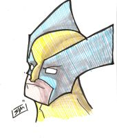 Wolverine Marker Sketch by ShadowMaginis