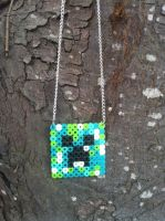 Minecraft creeper necklace by TheGeekEmporium