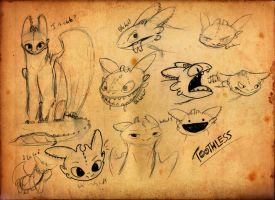 More Toothless Sketches by DR4WNOUT