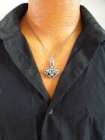 Thor's hammer (Mjolnir) Chainmail pendant by SerenityinChains
