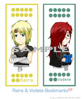 Raira and Vodete Bookmark by Sacchii