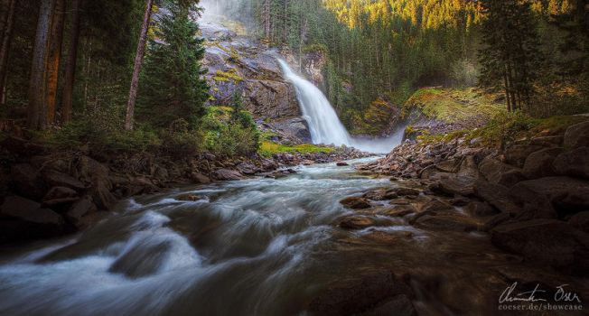 Krimml Waterfalls I by Nightline