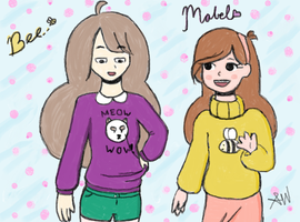 Bee meets Mabel Pines by SamWitched