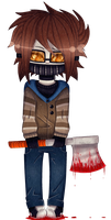 (Ticci Toby) Cute but Bloody by xXElectric-RibelXx